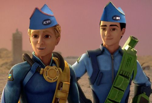 Gordon and Virgil wearing the orignal IR hats.