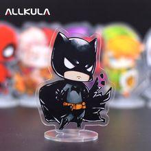 SALE US $4.8- 10CM Batman Action Figure Cute Acrylic PVC Collectible Model Toys Christmas Gift LP31
