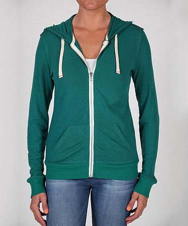 Another great find on #zulily! Green Zip-Up Hoodie by Abbot & Main #zulilyfinds