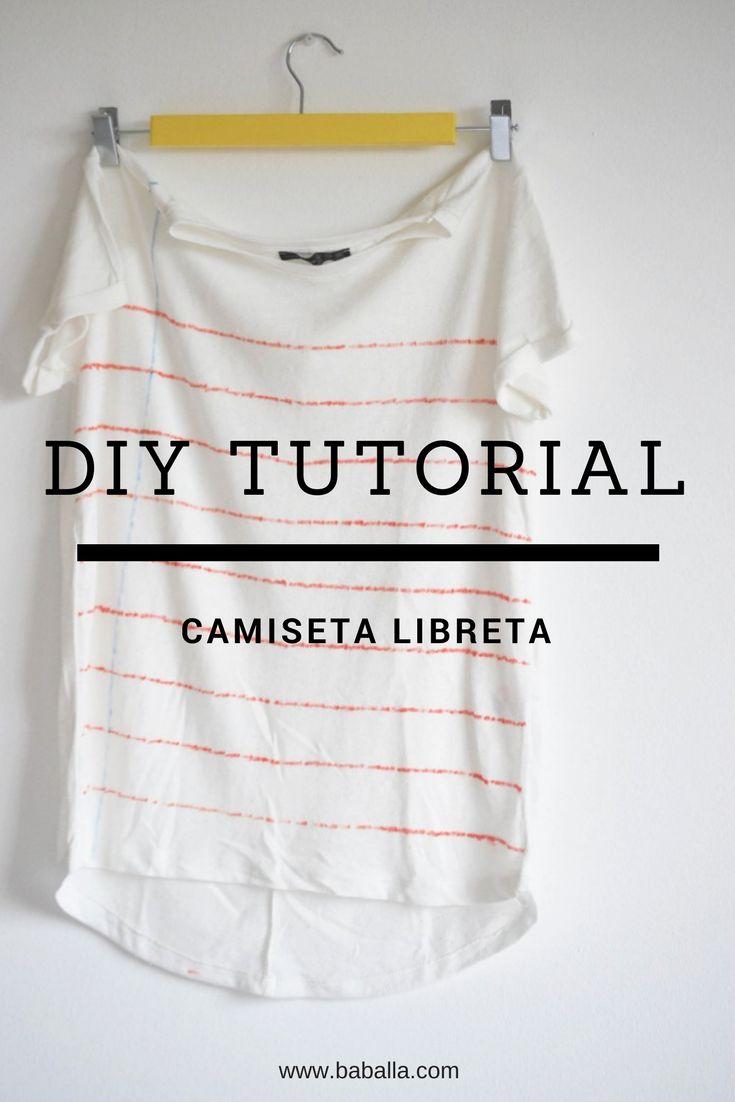 Tutorial DIY paso a paso de cómo hacer una camiseta libreta, diy ropa reciclada #diy #diychlothes