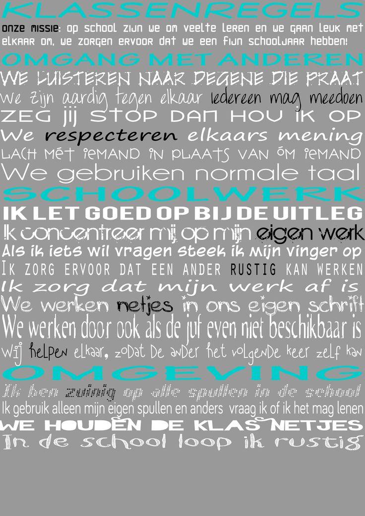 Klassenregels - Meestertim.nl