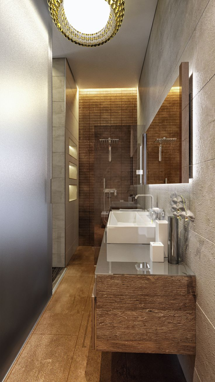 Luxury apartment renovation- Hidden bathroom for the guest Bedroom, Budapest, Hungary