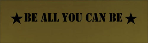 Be All You Can Be Army Boys Wall Quote Room by BlueMonkeyGraphics, $25.00