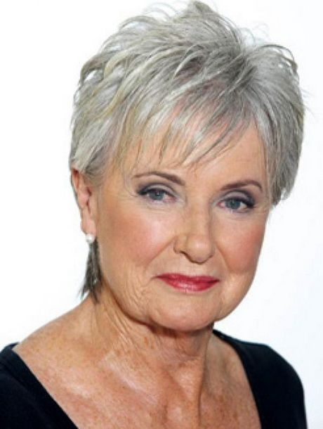 hairstyles for women over 60 with round faces......,