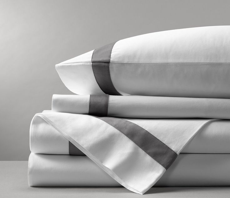 The Banded Sheet Set Comes In Dual Colors That Lend A Small Pop Of Color To  Any Bedroom. Set Includes: One Flat Sheet One Fitted Sheet* Two ...
