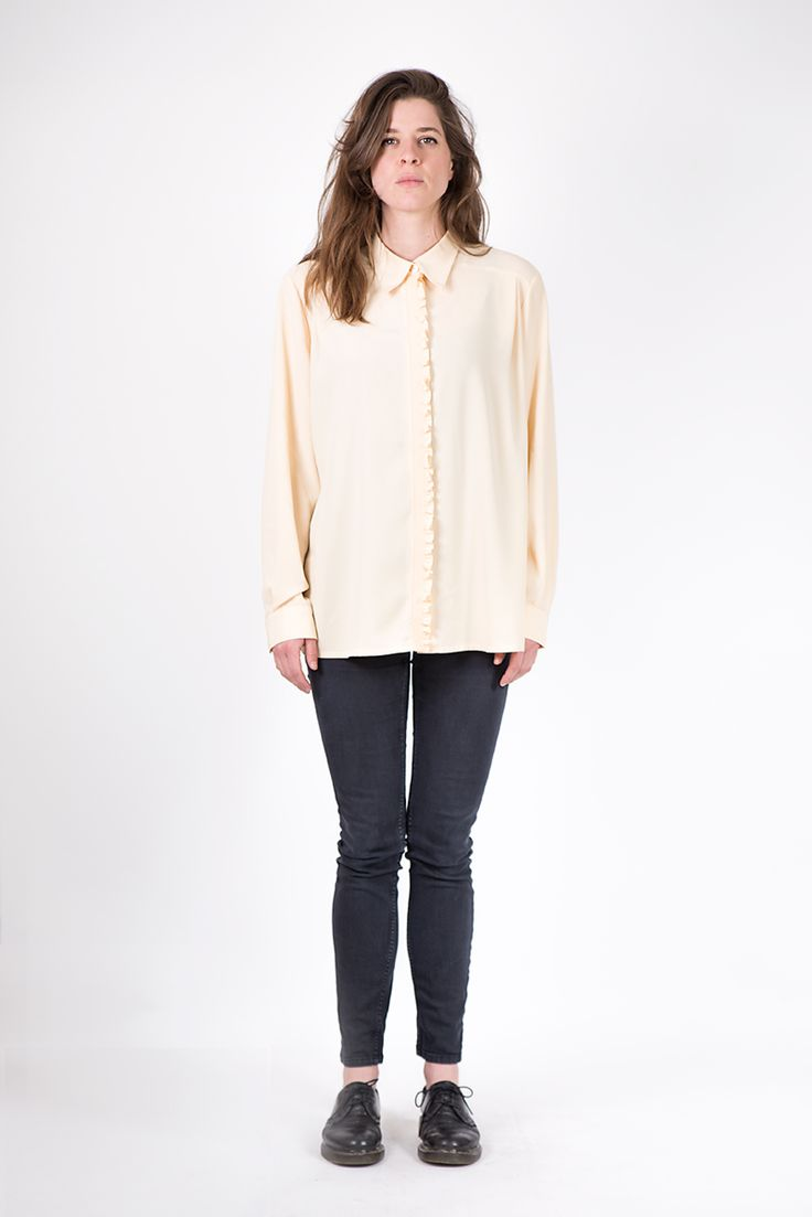 Creme rouches blouse
