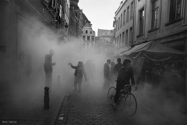 Foggy Day in the streets of Brussels by Ben Heine, via Flickr