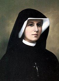 "St.Faustina At a time when some Catholics had an image of God as such a strict judge that they might be tempted to despair about the possibility of being forgiven,""I do not want to punish aching mankind,"" he once told St. Maria Faustina, ""but I desire to heal it, pressing it to my merciful heart"" (Diary 1588). The two rays emanating from Christ's heart, she said, represent the blood and water poured out after Jesus' death."