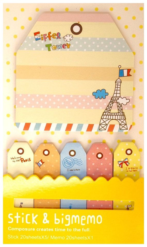 Kawaii PARIS candy color travel cute bookmark by MyChildhoodDream