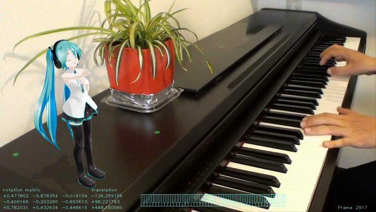 Miku sings along with my piano