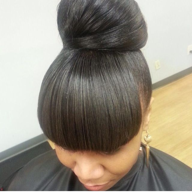 Hair bun/ Women's Hairstyles /Black Women Hairstyles / Black Girls Hairstyles / hair and beauty/ women of color/ by Salon Pk Jacksonville Florida. Specializing in short haircuts , hair color , extensions, natural hair , ,wigs, curly hair, textured hairstyle. African American Women Hairstyles/ women hairstyles