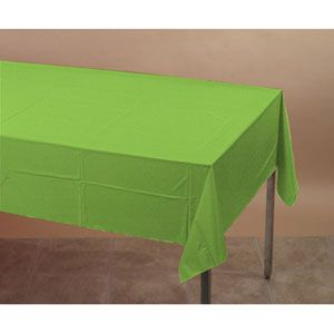 20713123B - Tablecover Green Fresh Lime Tablecover Tissue / Poly, Plastic Lined (137cm x 274cm) Please note: approx. 14 day delivery date.