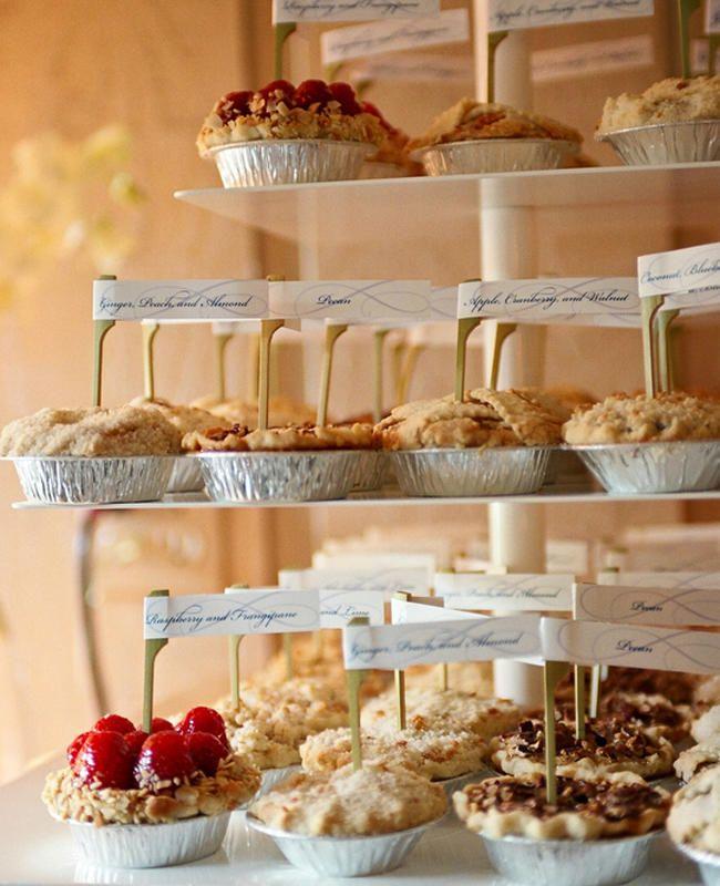 7 Ways To Serve Pie At Your Wedding | https://www.theknot.com/content/pi-day-wedding-pie