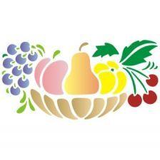 Stencil Jarrón con frutas