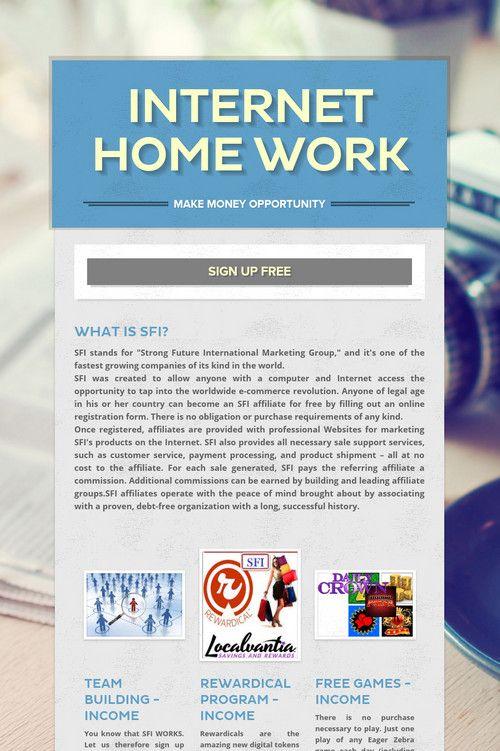 INTERNET HOME WORK