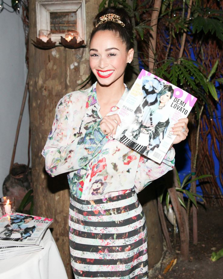 Cara Santana at our NYLON x Nicole Miller dinner
