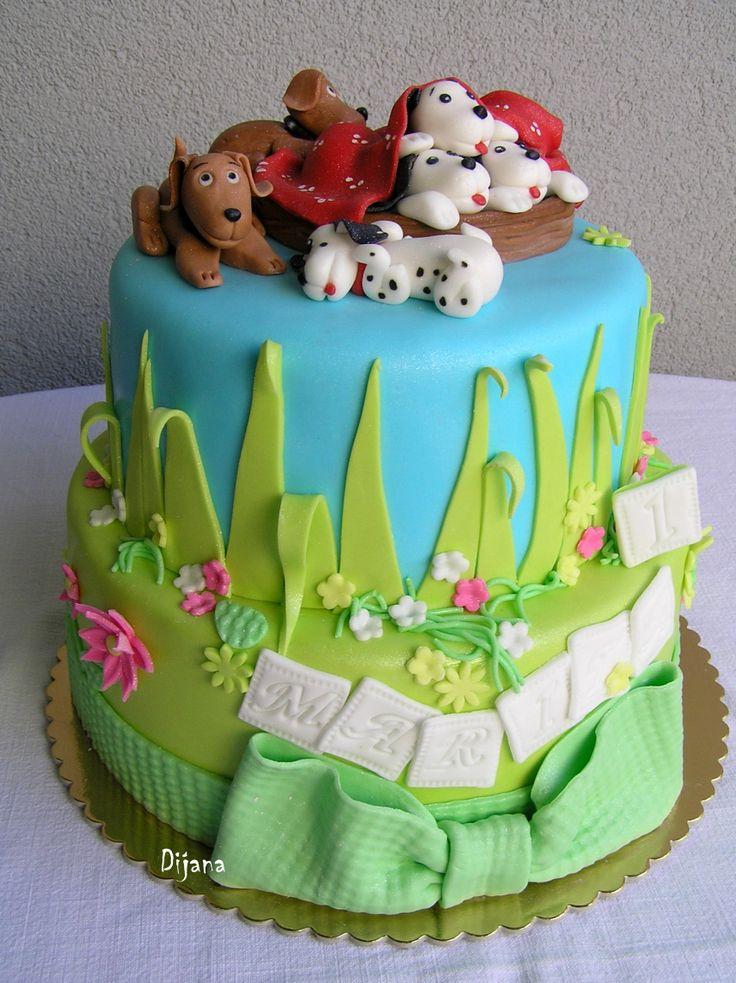 puppy cake, first birthday