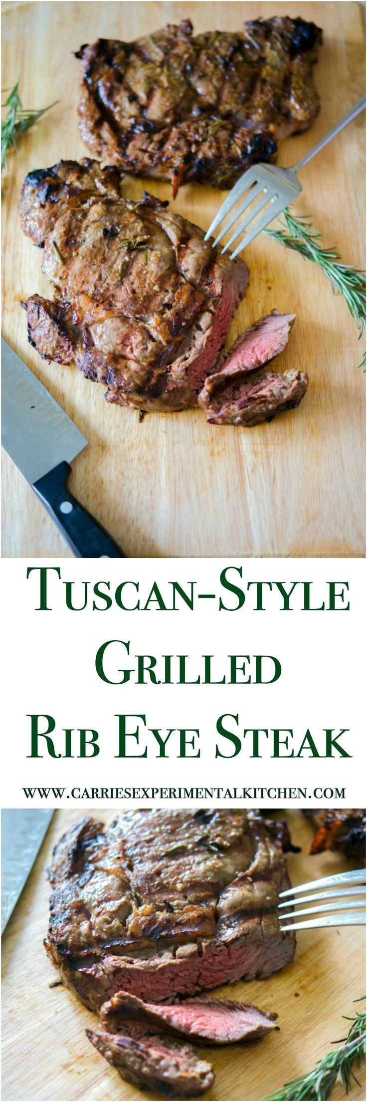 This Tuscan-Style Grilled Rib Eye Steak marinated in fresh rosemary, garlic, balsamic vinegar and olive oil is so tender, it will melt in your mouth.