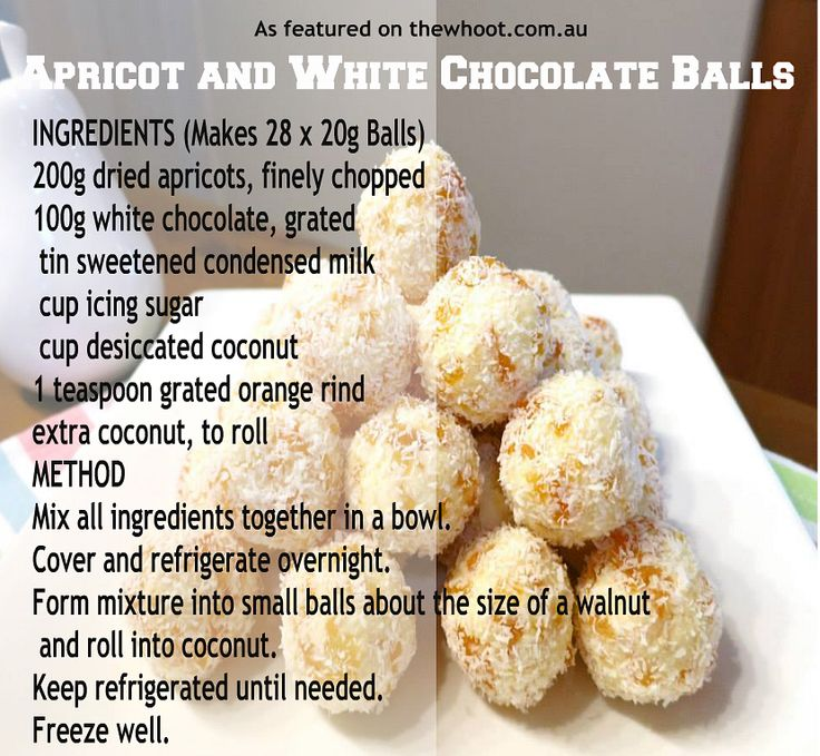 apricot and white chocolate balls - such a great gift idea