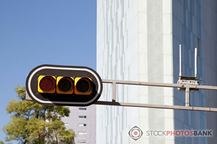 Stockphotosbank: Red light in Mexico City