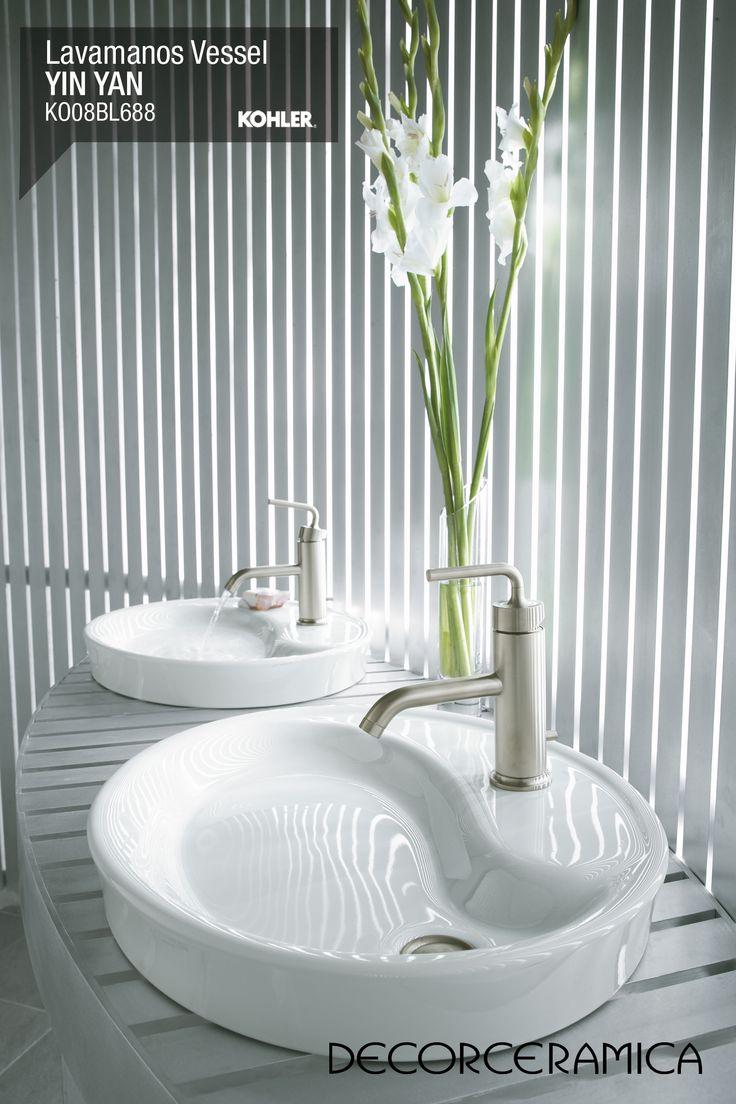 Lavabos Para Baño Kohler:Las líneas curvas de este lavamanos se verán muy bien en tus baños