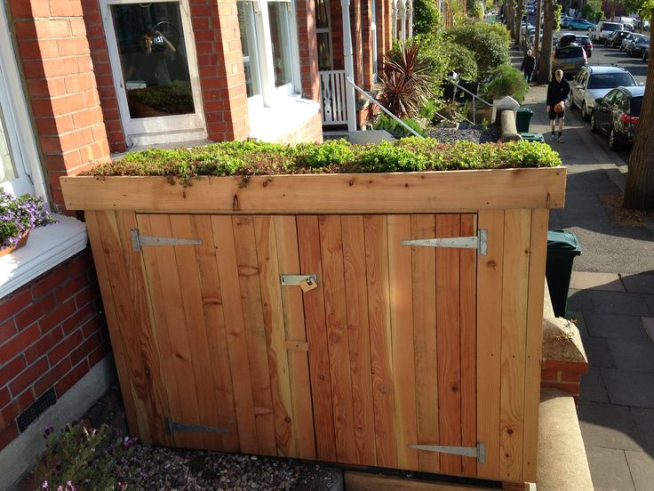 Classic bike shed with sedum roof