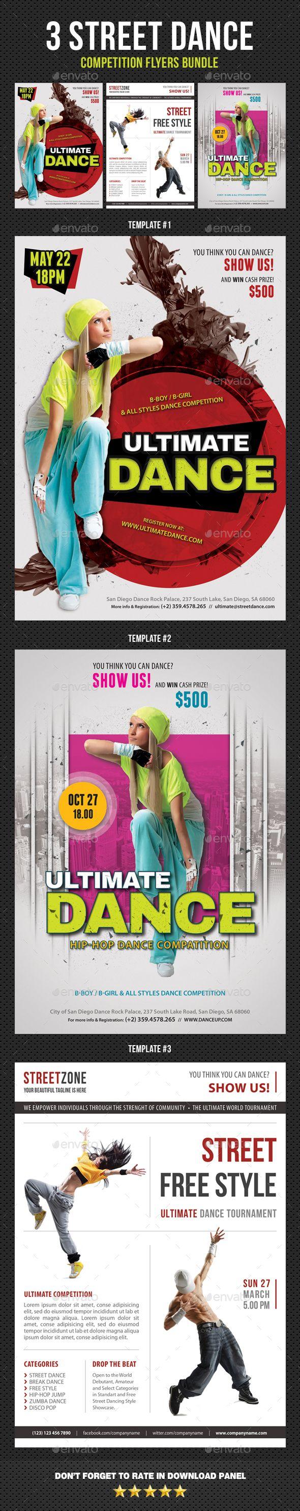 3 Street Dance Competition Flyer Bundle
