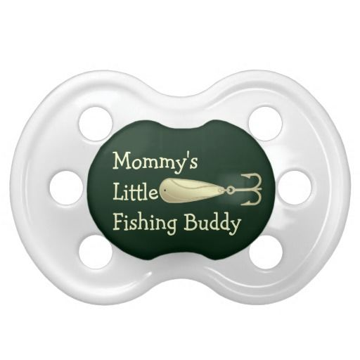 Fishing Spoon Lure Mommys Little Fishing Buddy Pacifier  This cute baby pacifier for mommys little fisherman features a yellow gold colored fishing spoon lure with white text and a yellow color background. Great for the baby - infant of an angler, fishing guide, outdoors man or woman, sportsman or animal lover. #fishing #funny #baby http://www.tee-graphix.com/products/fishinhuntin