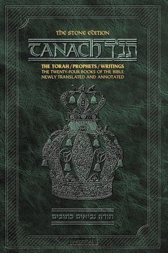 Tanach: The Torah, Prophets, Writings: The Twenty-four Books of the Bible Newly Translated and Annotated The Stone Edition (Green) Artscroll Series by Scherman, Nosson published by Mesorah Publications Ltd Hardcover