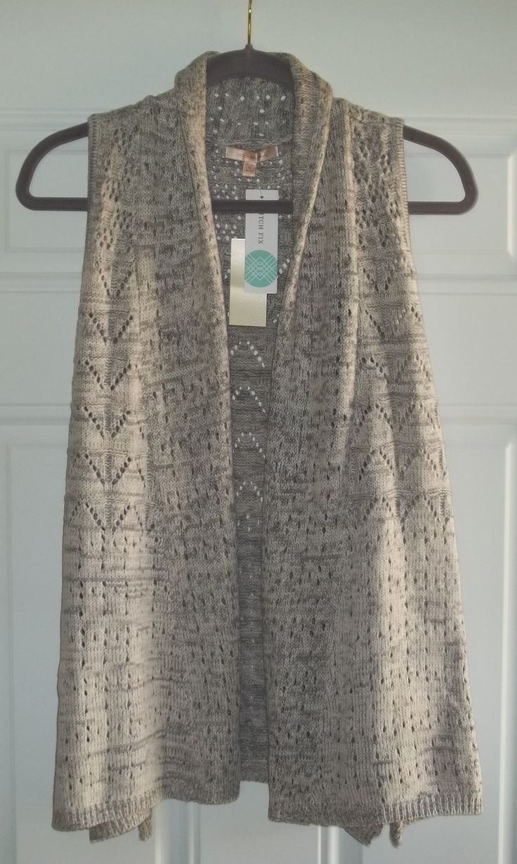 This is so pretty! I would love a sleeveless cardigan like this.