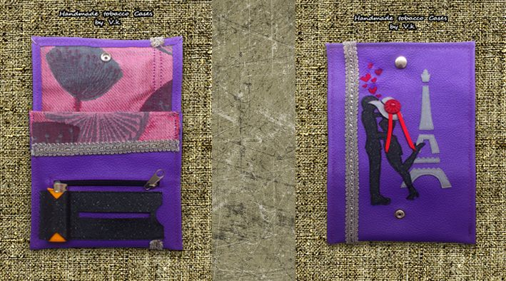 Love in Paris.. Tobacco Case with Synthetic Leather https://www.facebook.com/Vassoartistiko