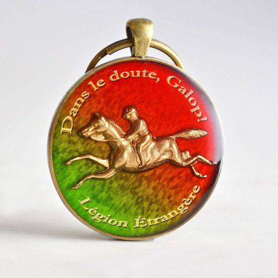 "Handmade × Select a Style × ""Dans le doute, Galop!"" is the unofficial, humorous, legendary motto of the French Foreign Legion (or Légion Étrangère as it is known in France) and it is translated as ""When in doubt, Gallop!"". #french #equestrian #proverb #handmade"