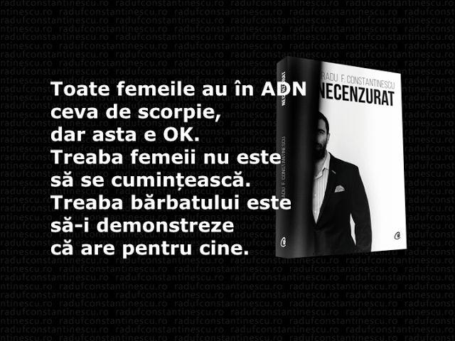 Radu F. Constantinescu: Scorpiile iau cei mai buni bărbați sau cine se aseamănă se adună?