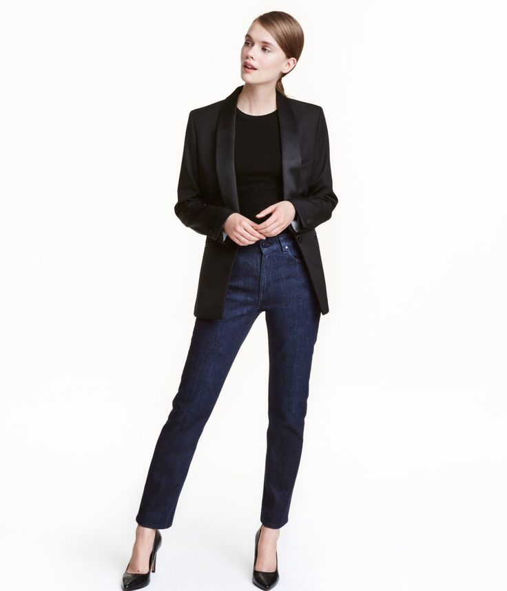 Straight Regular Jeans   Dunkelblau   Damen   H&M DE