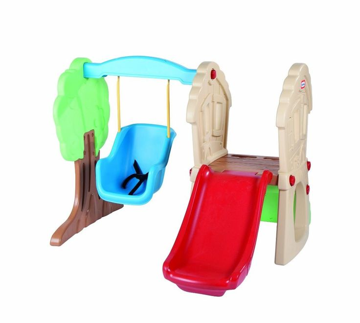 Toddler Swing Set Little Tikes Hide and Seek Climber Slide Rock Wall Clubhouse #LittleTikes