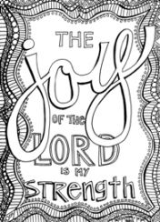 FREE Scripture Doodle Colouring Page For Kids Nehemiah 810
