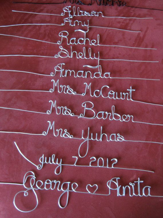 4 Diy Wedding Hanger Custom Personalized Wire Misc Hangers Crafts
