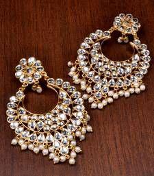 Buy Kundan Embellished Dangler Earrings 217ED82 danglers-drop online