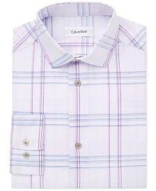 Calvin Klein Windowpane Plaid Shirt, Big Boys (8-20)