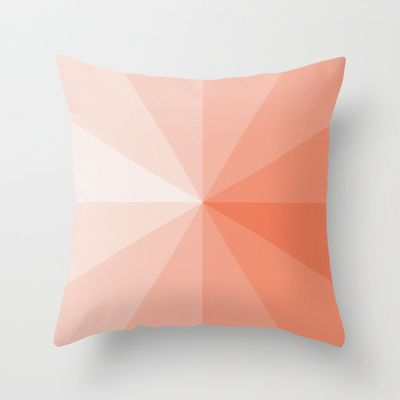 Throw Pillows on the Ottoman that match the rug coral Throw Pillow by ktparkinson | Society6