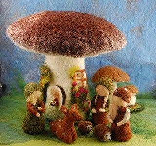 how sweet is this felted scene!