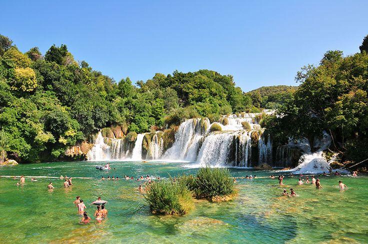 Visite du parc national de Krka en Croatie: récit et informations pratiques, comment s'y rendre, tarif, s'y baigner, s'y balader.