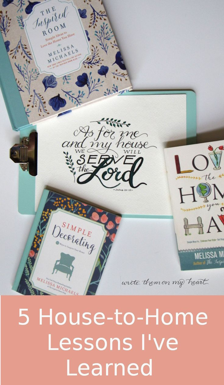 Joshua 24:15 Printable -Five House-to-Home lessons I have learned from Melissa Michaels of The Inspired Room books and blog.