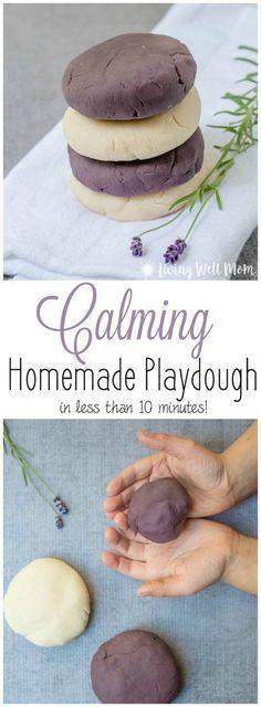 Using essential oils - Calming Homemade Playdough #essentialoil #kids #activities