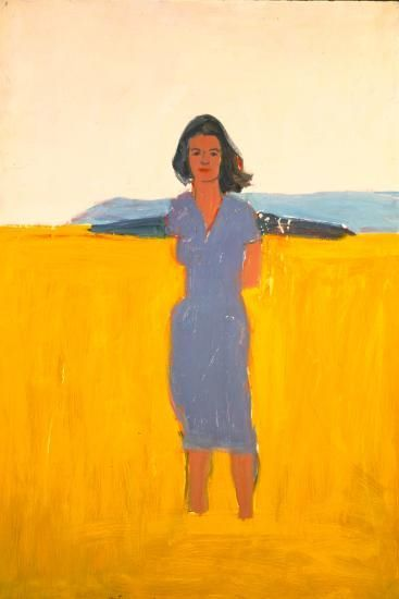 Alex Katz. Ada in a Purple Dress, 1958-59.