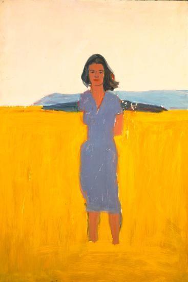 Alex Katz, Ada in a Purple Dress, 1958-59