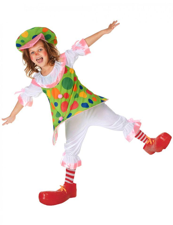 Ga verkleed als clown voor carnaval in dit originele kostuum voor meisjes, nu beschikbaar tegen de laagste prijs op Vegaoo.nl!