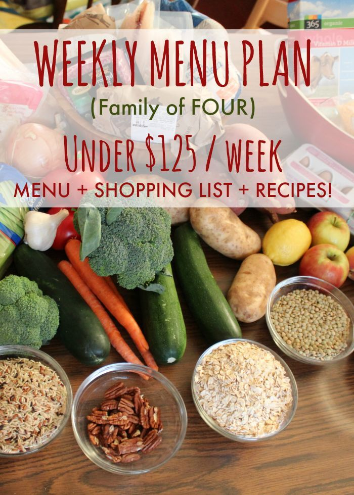 125 a week family of 4 budget meals budget recipes easy recipes family