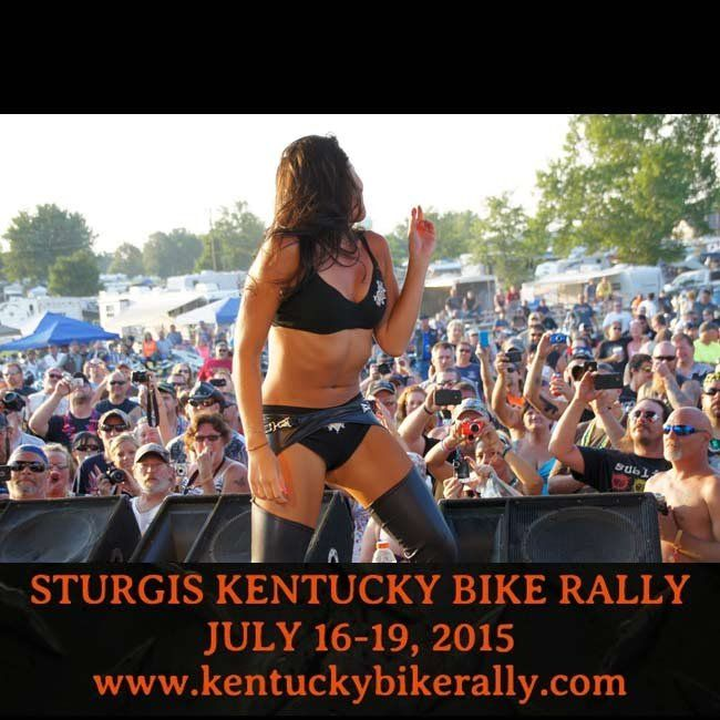 Rock Star Girl at the Sturgis Kentucky Bike Rally- July 16 to 19, 2015  **MORE Pictures http://blog.lightningcustoms.com/kentucky-bike-rally-preview/ **Info at http://www.lightningcustoms.com/little-sturgis-rally.html  #kentuckybikerally