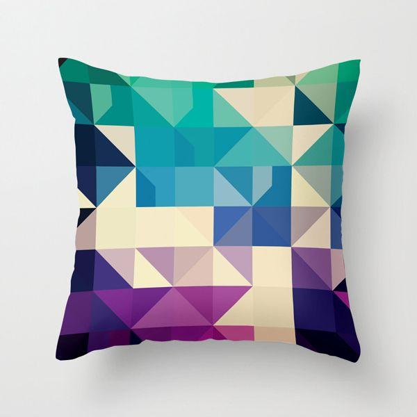 Kaleidoscope Pillow Cover in Cool | dotandbo.com